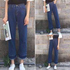 Velero - Fray Hem Wide Leg Jeans
