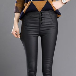 HotBlock - 人造皮窄身裤