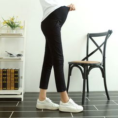 Mamaladies - Cropped Slim-Fit Maternity Pants