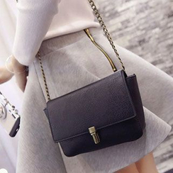 Youme - Faux Leather Flap Shoulder Bag