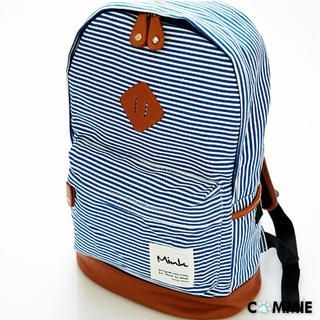 B.B. HOUSE - Striped Canvas Backpack