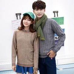 TOOI - Couple Matching Ribbed Sweater