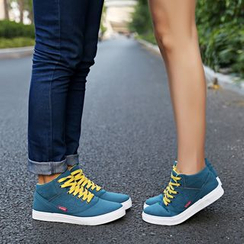 Shoelock - Couple Matching High Top Sneakers