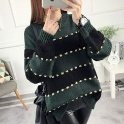 anzoveve - Striped Thick Sweater