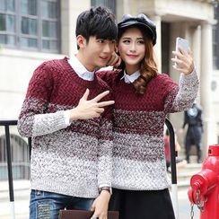 hooboo - Couple Matching Melange Sweater