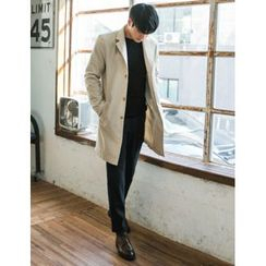 STYLEMAN - Notched-Lapel Single-Breasted Trench Coat