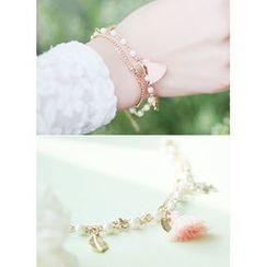 kitsch island - Tassel Layered Bracelet