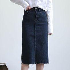 ELLY - Midi Denim Skirt