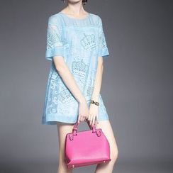 Alaroo - 短袖蕾絲連衣裙