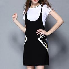 Merald - Set: Short-Sleeve  T-Shirt + Jumper Skirt