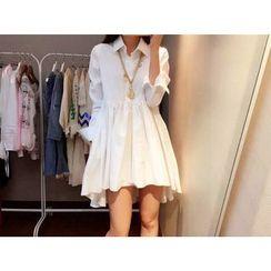 Moonshine - Dip-Back Long-Sleeve Shirtdress