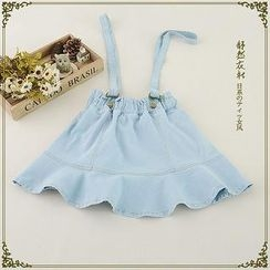 Storyland - Denim Suspender Skirt