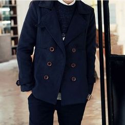 Ekinbrown - 双排扣针织大衣