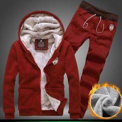 Alvicio - 套裝: 連帽拉鍊夾克 + 抽繩運動褲