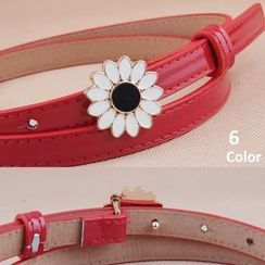 Goldenrod - Flower Accent Slim Belt