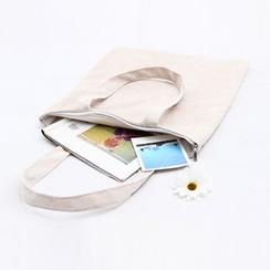 Eastin - Velvet Zipped Shopper Bag