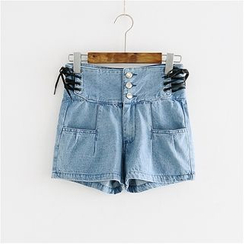 Storyland - High-Waist Denim Shorts