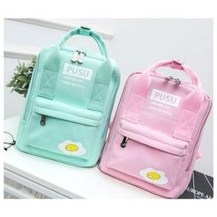 Crystal - Printed Square Canvas Backpack