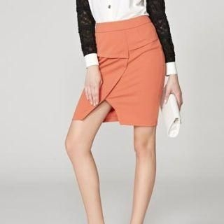 O.SA - Slit-Front Pencil Skirt