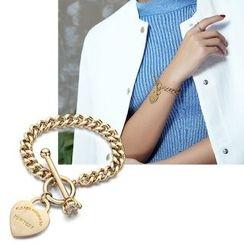 STYLEJING - Heart-Drop Toggle Bracelet
