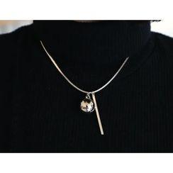 DANI LOVE - Metallic Ball-Pendant Necklace