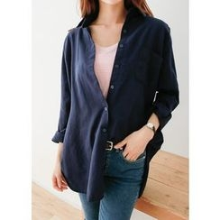 J-ANN - Pocket-Front Long Shirt