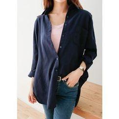 J-ANN - Pocket-Front Long Shirt