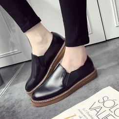 Micha - Faux-Leather Slip-Ons