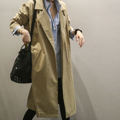 NANING9 - Open-Front Coat with Sash