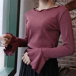 Fancy Show - Long-Sleeve Ruffled Top