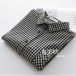 Bonbon - Gingham Long-Sleeve Shirt