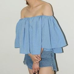 Jolly Club - Off-Shoulder Ruffle Top