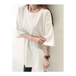 ATTYSTORY - Elbow-Sleeve Brushed-Fleece T-Shirt