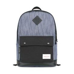 Mr.ace Homme - Appliqué Panel Canvas Backpack
