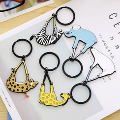 School Time - Animal Key Ring
