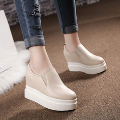 Pastel Pairs - Hidden Wedge Platform Slip-Ons