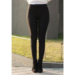 MyFiona - Snap-Button Leggings Pants