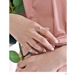 PINKROCKET - Set of 4: Faux-Pearl Rings