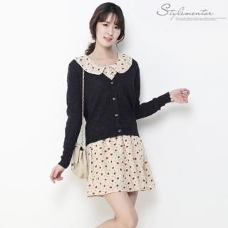 Stylementor - V-Neck Cable-Knit Cardigan