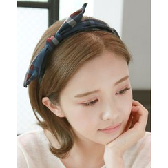 Miss21 Korea - Bow Plaid Hair Band