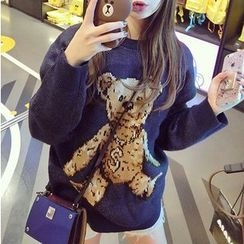 lilygirl - Bear Print Sweater