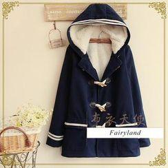 Fairyland - Striped Trim Toggle Hooded Coat
