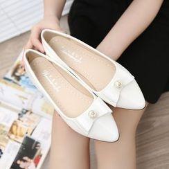 EMIL - 珍珠蝴蝶结平跟鞋