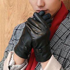 Thantrue - Genuine-Lambskin Belted Gloves