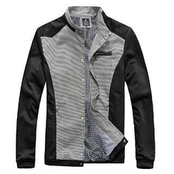 Evolu - Single-Breasted Stand Collar Jacket