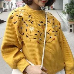 Cloud Nine - Embroidered Sweatshirt