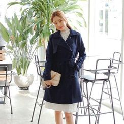 Cherryville - Double-Breasted Trench Coat