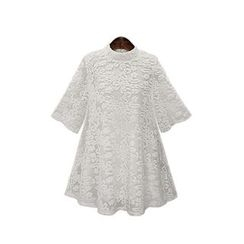 GRACI - Elbow-Sleeve Lace Dress
