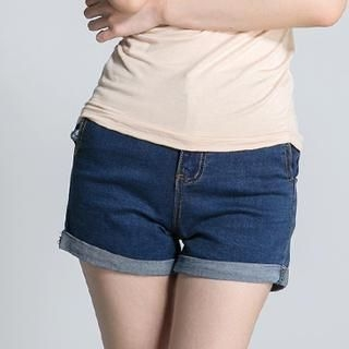 LULUS - High-Waist Cuffed Denim Shorts