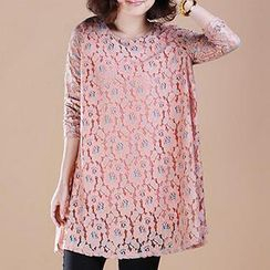 Cotton Candy - Lace Tunic